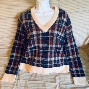 Banana Republic Wool Blend Plaid Sweater